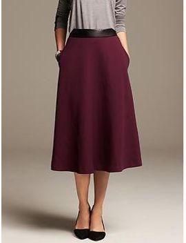 burgundy-jacquard-midi-skirt by banana-repbulic