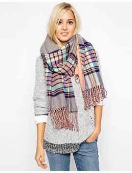 river-island-double-sided-plaid--oversized-blanket-scarf by river-island