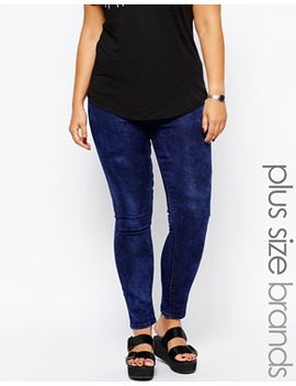 new-look-inspire-mottled-jegging by asos-curve