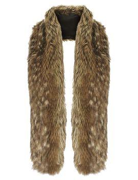 faux-fur-stole by topshop