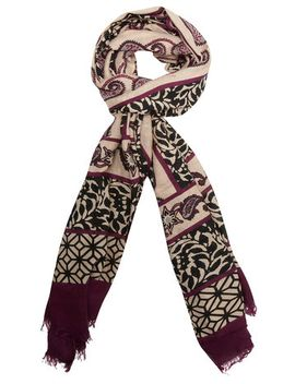 purple-paisley-and-stripe-scarf by dorothy-perkins