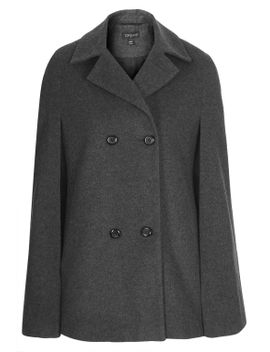 double-breasted-wool-cape by topshop