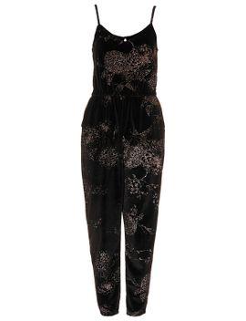 floral-glitter-velvet-jumpsuit by topshop