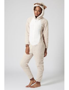 pug-fleece-onesie by topshop