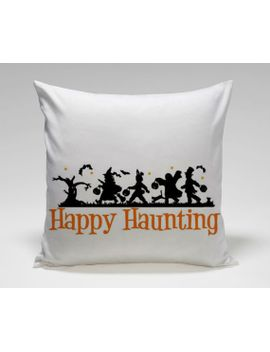 halloween-decal-happy-haunting-trick-or-treat-popular-square-pillow-case-custom-zippered-pillow-case-one-side-and-two-side by tasoplastart