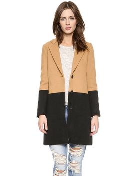 coloblock-car-coat by madewell