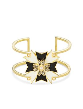 maltese-cross-enamel-cuff by cwonder