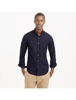 slim-brushed-heather-twill-shirt-in-pinstripe by jcrew