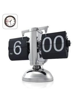 niceeshop(tm)-retro-flip-down-clock-,-internal-gear-operated,black by niceeshop