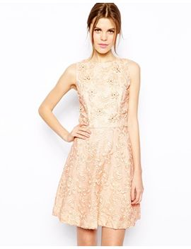 warehouse-organza-flower-embroidered-dress by warehouse