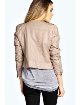 sarah-faux-leather-jacket by boohoo