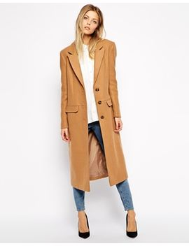 asos-midi-coat-in-wool by asos-collection
