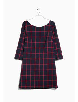check-shift-dress by mango