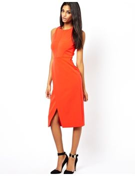 asos-pencil-dress-with-wrap-front by asos-collection