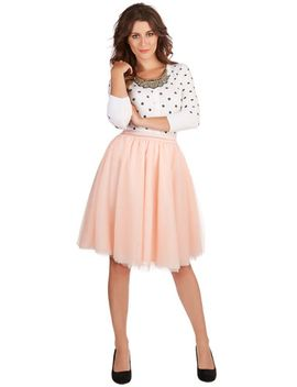 turning-in-tulle-skirt-in-peach by modcloth