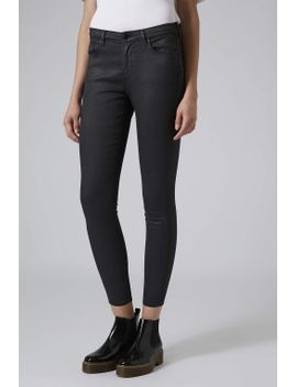 moto-black-coated-leigh-jeans by topshop