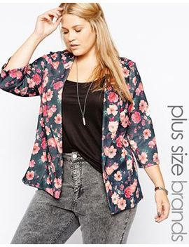 new-look-inspire-floral-print-textured-blazer by new-look-inspire