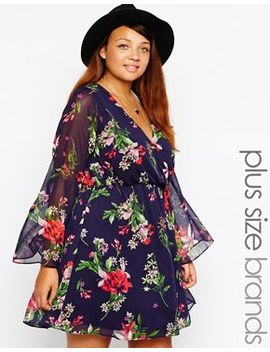 new-look-inspire-floral-print-bell-sleeve-dress by new-look-inspire