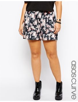 asos-curve-exclusive-culottes-in-fall-floral-print by asos-curve