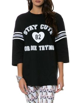 the-stay-cute-or-die-trying-jersey-in-black by stay-cute