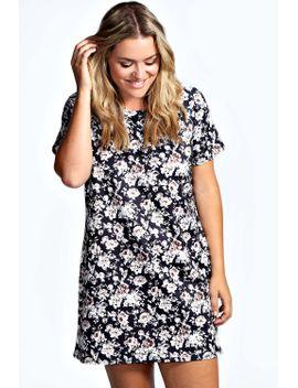 lottie-floral-shift-dress by boohoo