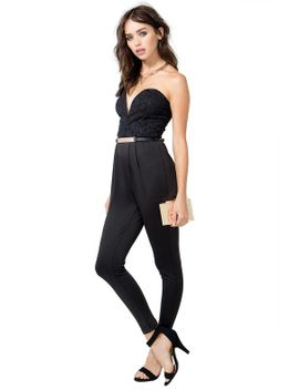 embo-bustier-belted-jumpsuit by agaci