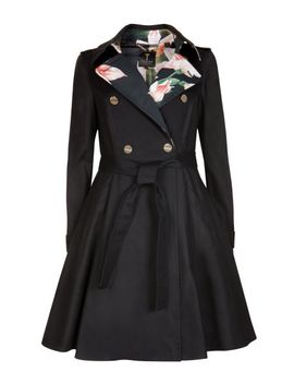 flared-skirt-trench-coat by ted-baker