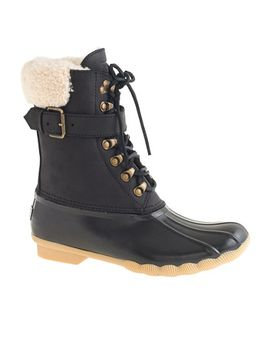womens-sperry®-for-jcrew-shearwater-buckle-boots-in-black by womens-sperry