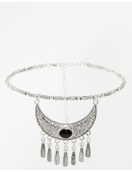 asos-etched-moon-choker-necklace by asos-collection