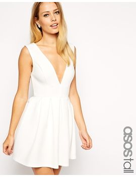 asos-tall-debutante-mini-skater-dress by asos-tall