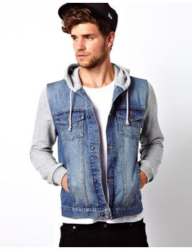 asos-denim-jacket-with-jersey-sleeves by asos