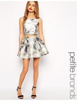 true-decadence-petite-jacquard-mini-skater-skirt by asos-petite