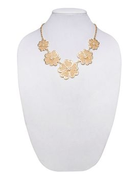 floral-mesh-cutout-statement-necklace by wet-seal