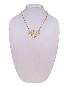 burnished-floral-bib-necklace by wet-seal