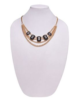 draped-chain-bib-necklace by wet-seal