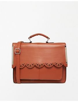 asos-satchel-bag-with-scallop-bar-detail-and-punchout by asos-collection