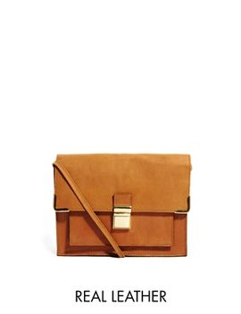asos-leather-vintage-style-lock-cross-body-bag by asos-collection