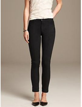 faux-suede-skinny-ankle-zip-pant by banana-repbulic