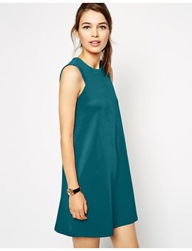 asos-simple-shift-dress-in-scuba by asos-collection
