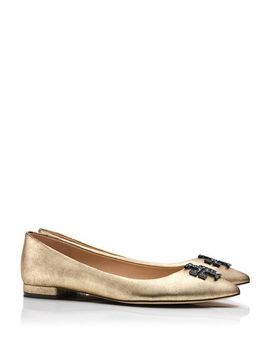 kellen-metallic-flat by tory-burch