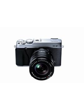 fujifilm-x-e1-163-mp-compact-system-digital-camera-with-28-inch-lcd-and-18-55mm-lens-(silver)-(old-model) by fujifilm