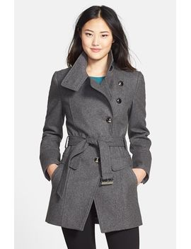 belted-wool-blend-asymmetrical-military-coat by kenneth-cole-new-york