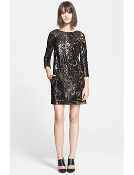 sequined-shift-dress by halston-heritage