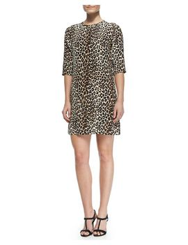 aubrey-silk-animal-print-dress by equipment
