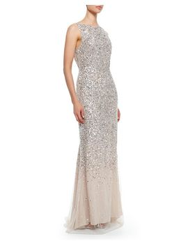 saba-sleeveless-beaded-mesh-gown by alice-+-olivia