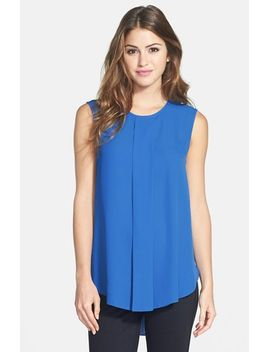 center-pleat-sleeveless-blouse by vince-camuto