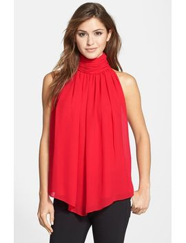 ruched-front-mock-neck-blouse by vince-camuto