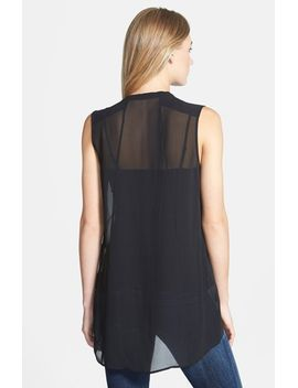 the-fisher-project-sheer-silk-mandarin-collar-top by eileen-fisher