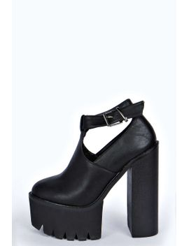 primrose-ankle-strap-cut-out-cleated-heel by boohoo