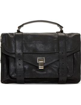 black-leather-ps1-medium-satchel by proenza-schouler